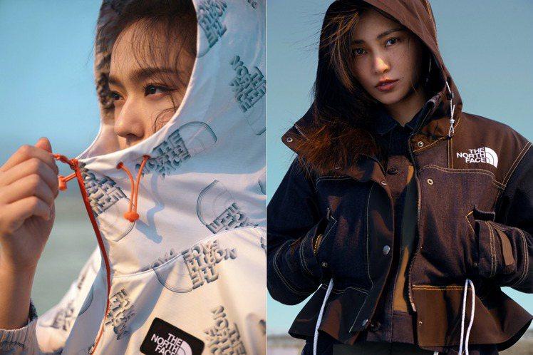 The North Face推出女性專屬春夏系列,並請來女星林允(左)、知名攝影...