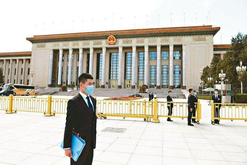 大陸全國兩會即將登場。圖為北京人民大會堂。(本報系資料照)