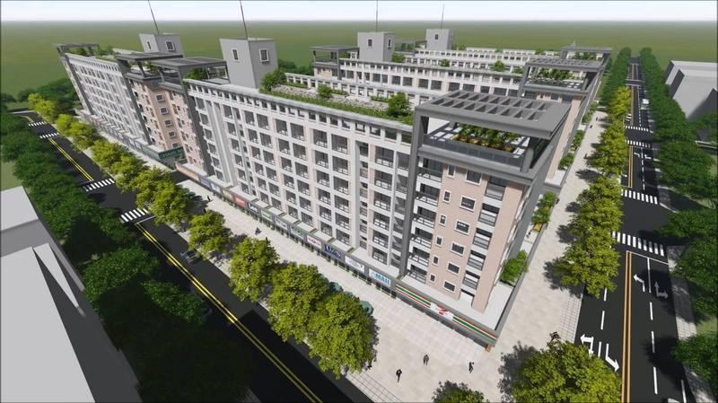 彰化縣府計畫在伸港國宅用地興建青年宅,600戶建築示意圖。圖/彰化縣府提供