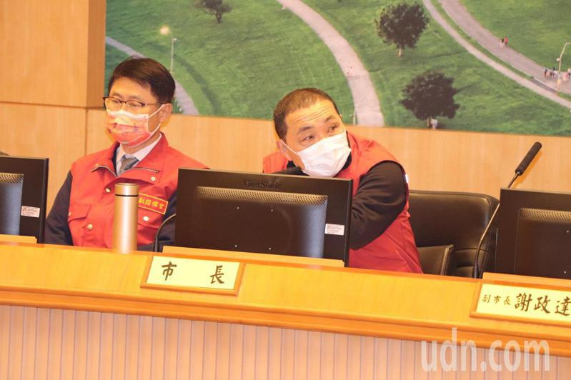 新北市長侯友宜今主持市政會議。記者吳亮賢/攝影