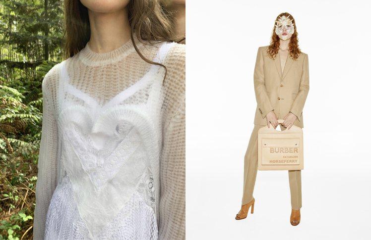 將經典服裝融入街頭服飾的特徵,是2021春夏時裝表現。圖/BURBERRY提供