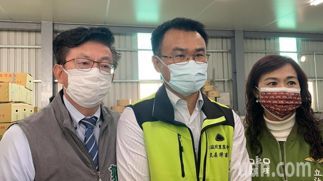 農委會主委陳吉仲表示,針對兩岸防檢疫的問題目前正在等對岸回應。記者吳淑玲/攝影