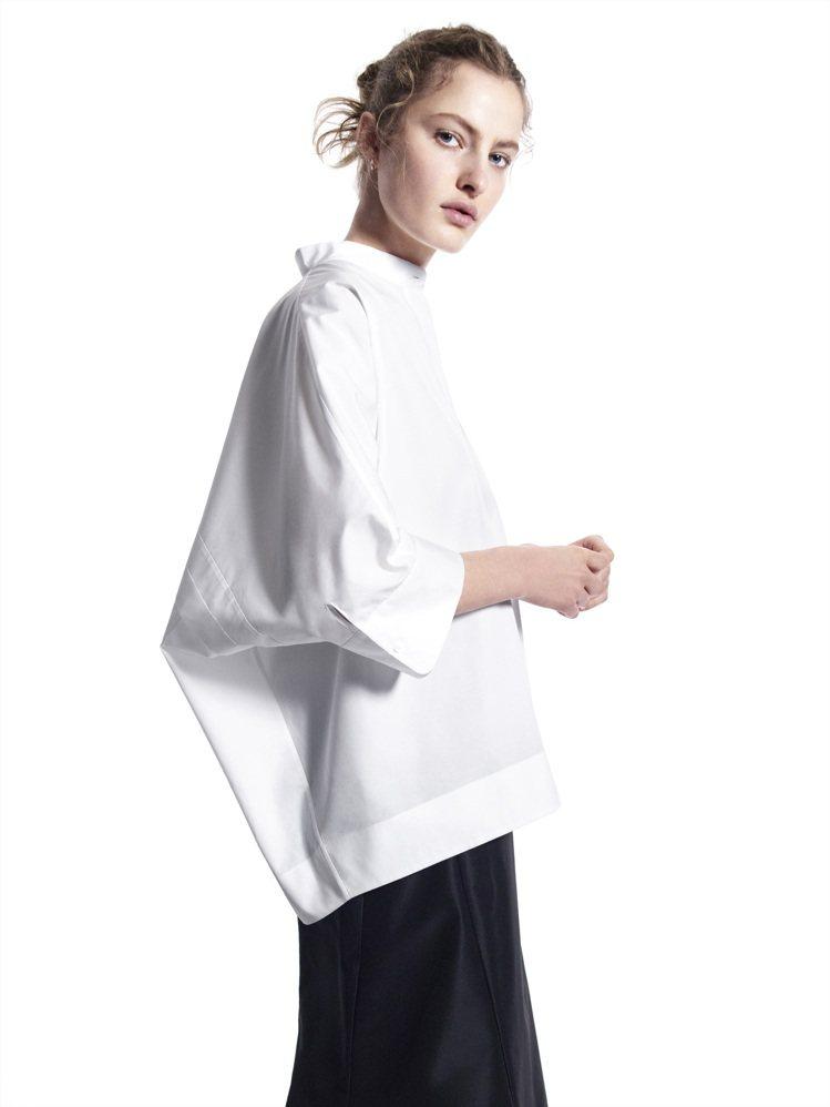 +J SUPIMA COTTON連身袖襯衫1,290元。圖/UNIQLO提供