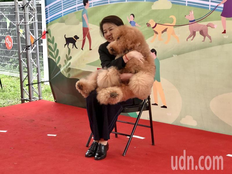 台北市副市長黃珊珊出席「古亭狗活動區」啟用儀式,被認為是要搶攻毛小孩族群。記者鍾維軒/攝影