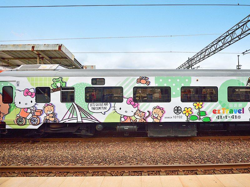 易遊網環島之星HelloKitty繽紛列車。圖/業者提供