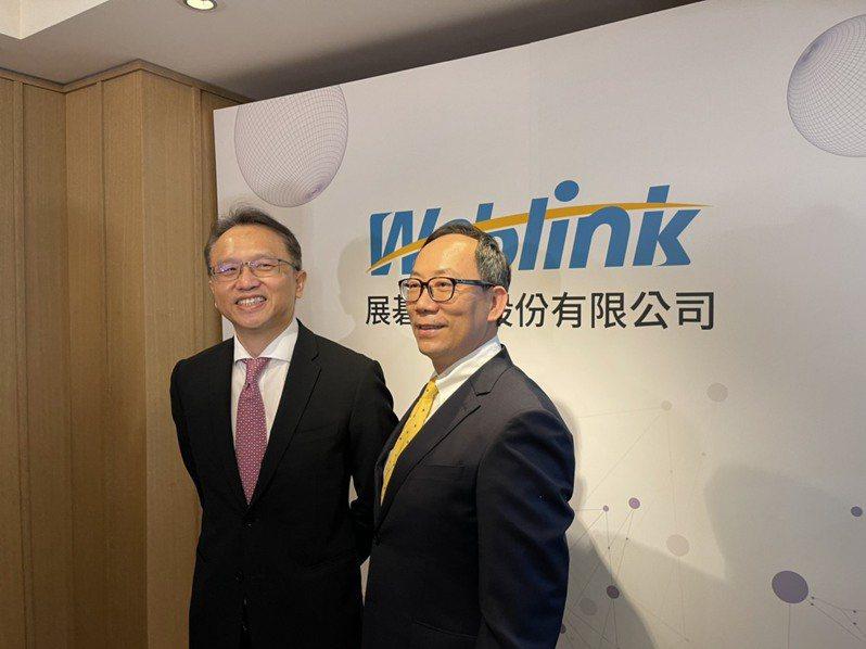 左起宏碁董事長陳俊聖(左)、展碁總經理林佳璋(右)。 記者謝艾莉/攝影