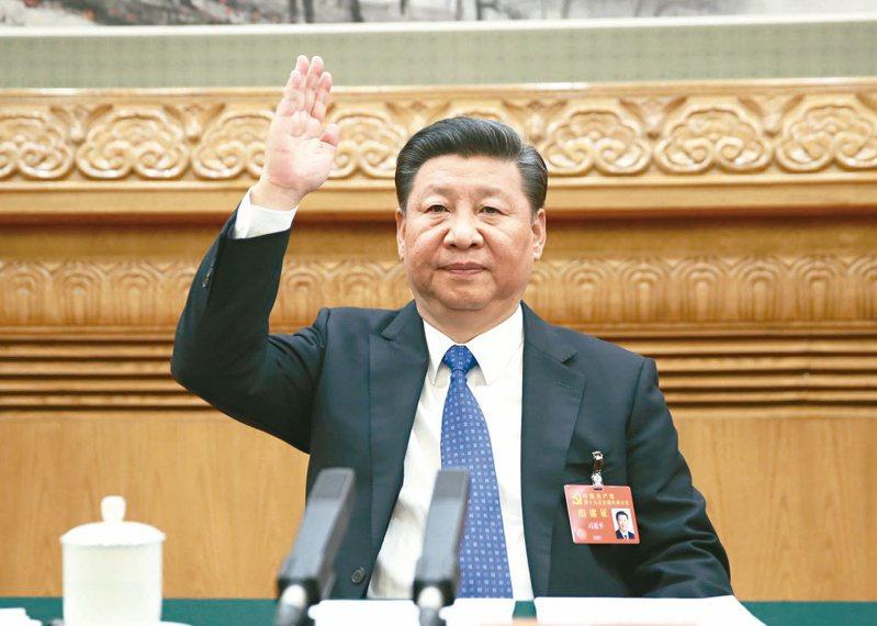 中國大陸在全國兩會登場前突然宣布暫停進口台灣鳳梨,我方兩岸人士研判,此舉是中共國家主席習近平(圖)為了清除鷹派藉要求處理台灣問題的雜音。新華社