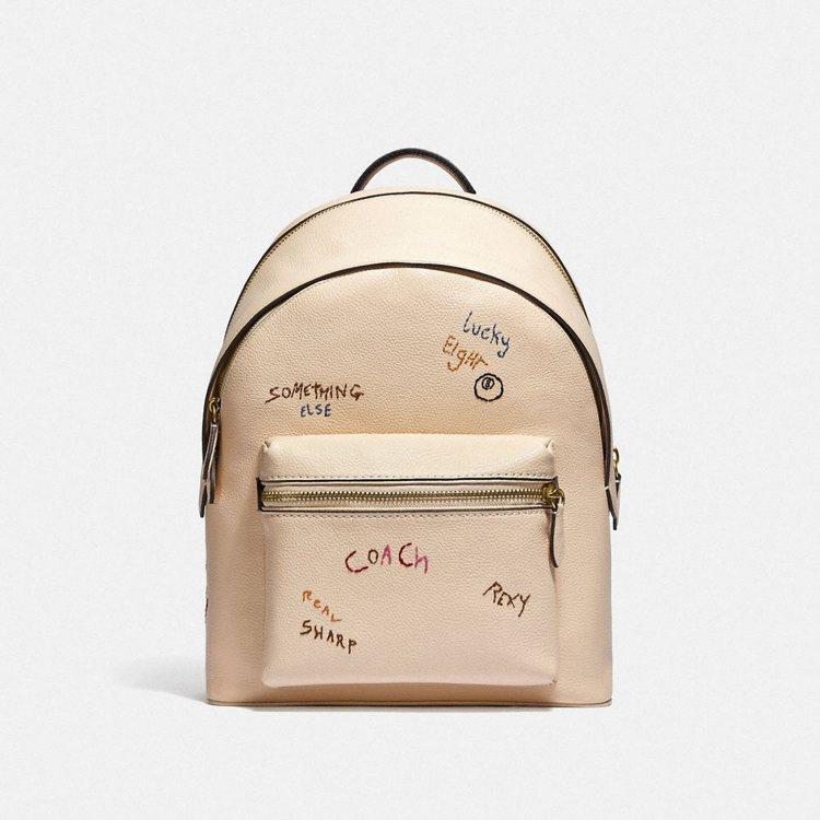 男裝刺繡後背包,25,800元。圖/COACH提供