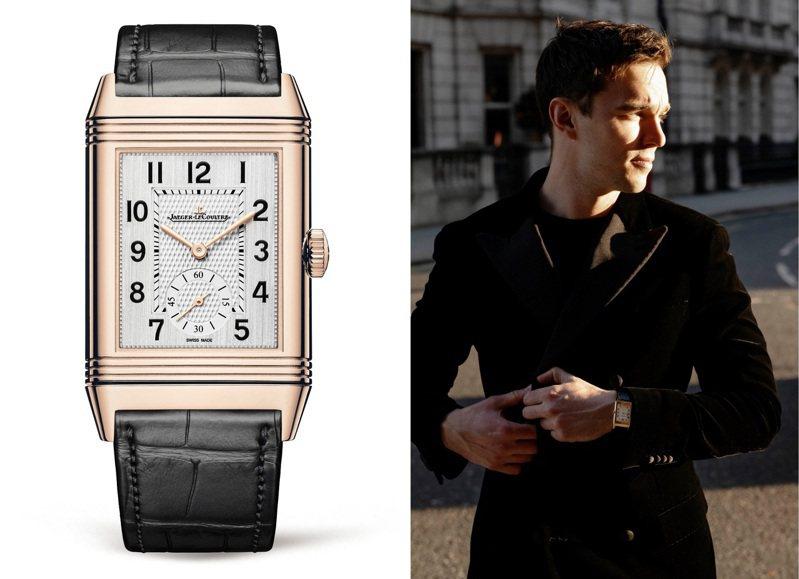 原本就是積家品牌好友的尼可拉斯霍特特(Nicholas Hoult),以Reverso Tribute翻轉系列腕表出席金球獎,一展紳士暖男風範。圖 / 積家表提供(合成圖)。