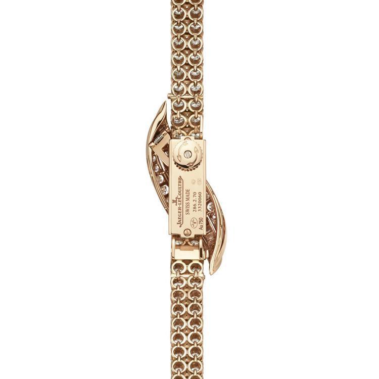 細小美艷的積家Joaillerie 101 Feuille鑽表,使用的101手上...