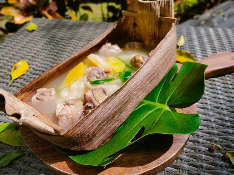 太魯閣晶英暖心也暖胃的湯品「刺蔥鳳梨苦瓜雞湯」。圖/太魯閣晶英提供