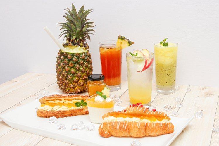 六福村主題遊樂園也推出各式創意鳳梨鮮果飲。圖/六福旅遊集團提供