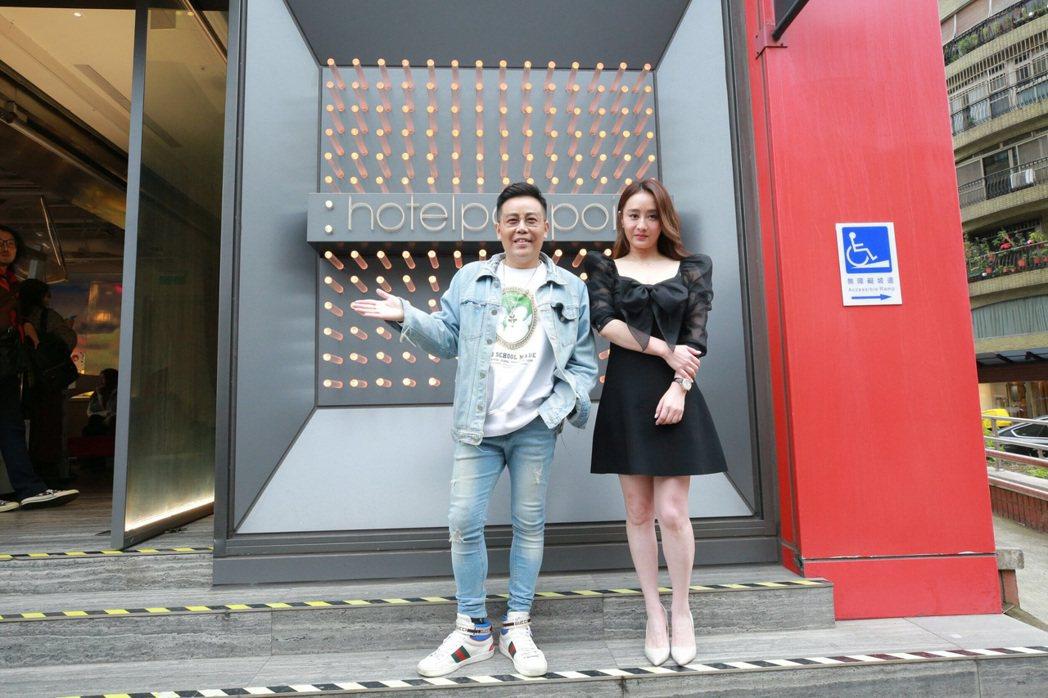 導演姜寧(左)和陳德容(右)合力拍電影。圖/禾力文創提供