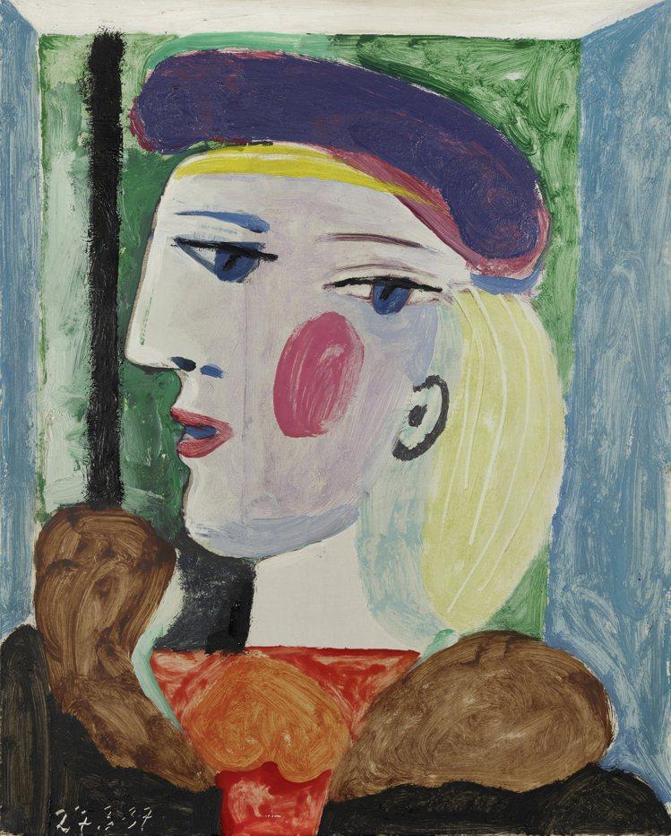 畢卡索「戴淡紫色貝雷帽的女子」,估價1000萬美元起。圖/邦瀚斯提供