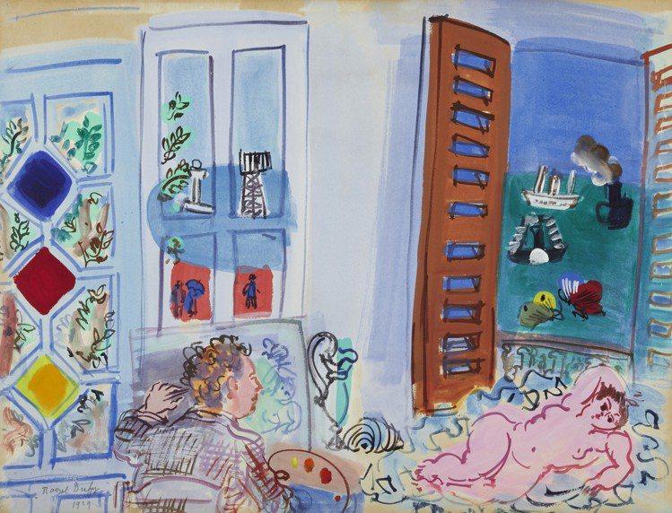 RAOUL DUFY作品「L'atelier de l'artiste au H...