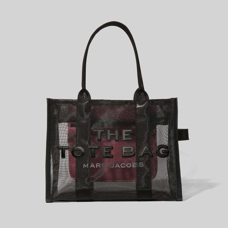 暗夜黑透視網狀托特包(大),13,900元。圖/Marc Jacobs提供