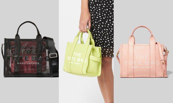 Marc Jacobs全新推出皮革材質、透視網狀尼龍款的The Tote Bag...