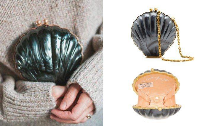 今年春夏,LULU GUINNESS為貝殼造型包款換上了新色。圖/LULU GU...