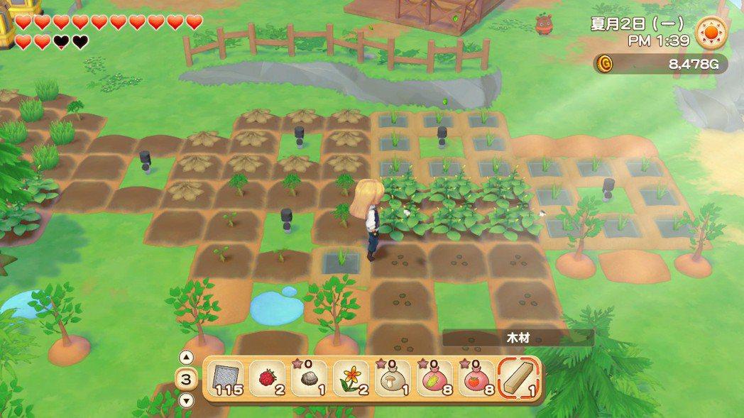 最基本的開荒墾地、播種灑水、進而收成作物賣出,在本作依然也是不可或缺的工作。