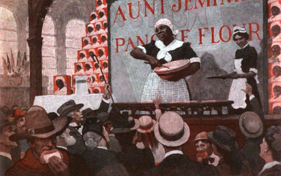 南西⸳格琳(Nancy Green)在 1893 年萬國博覽會上,被聘用扮成傑米...