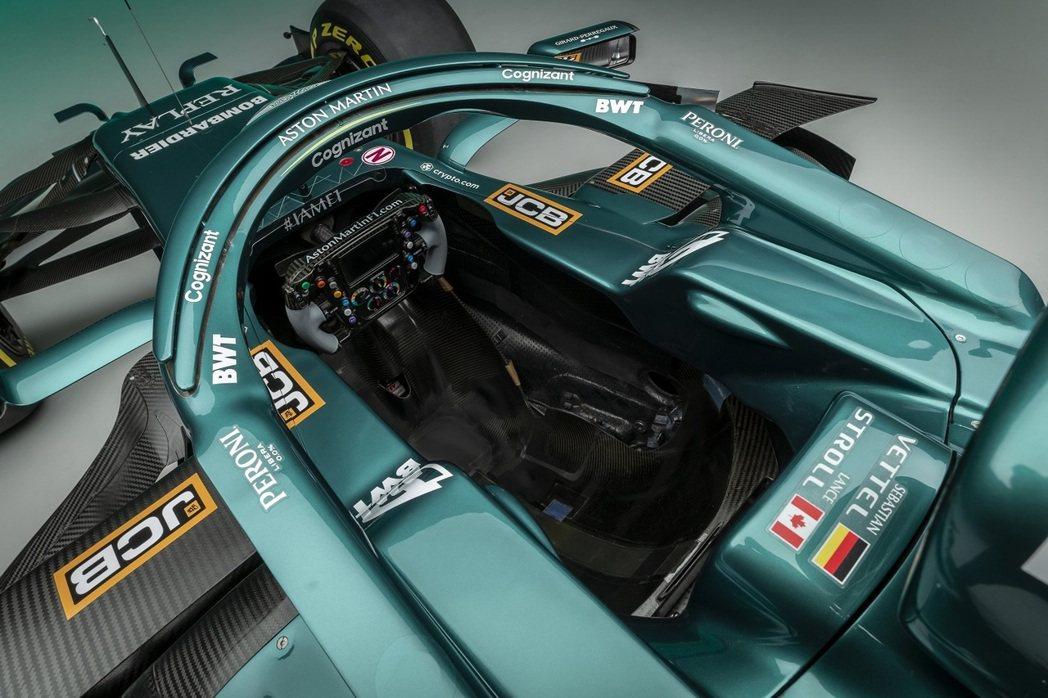 Aston Martin AMR21駕駛艙。 圖/Aston Martin提供