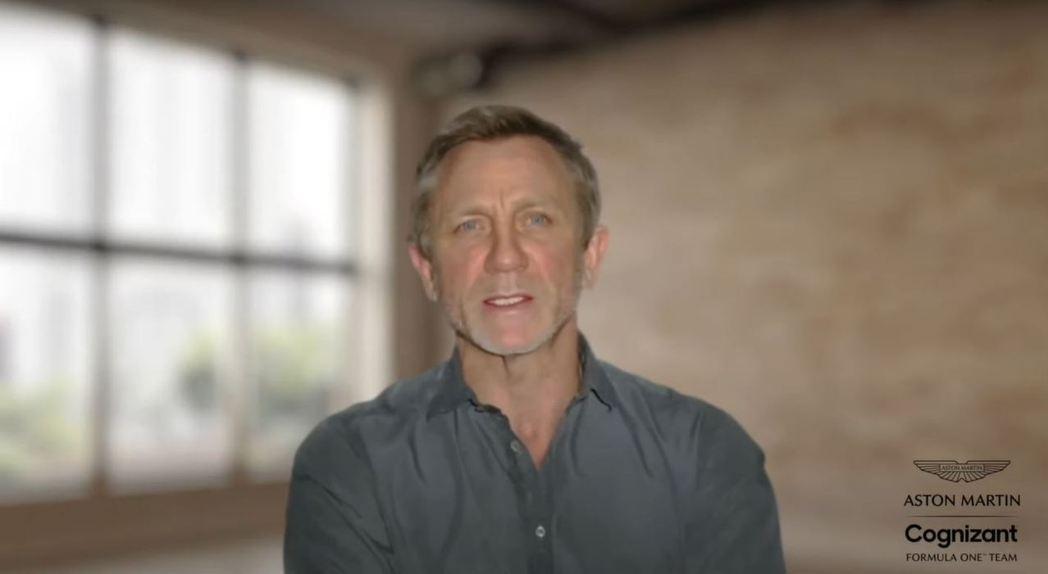 現任007 Daniel Craig以預錄方式現身發表會。 摘自Aston Ma...