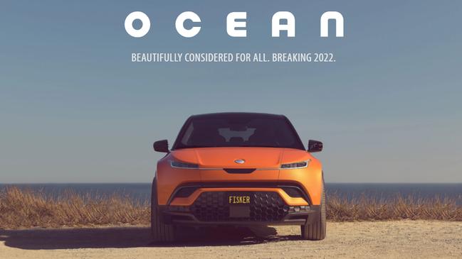 與鴻海攜手合作的電動車新創事業Fisker上周股價大漲。擷自Fisker官網
