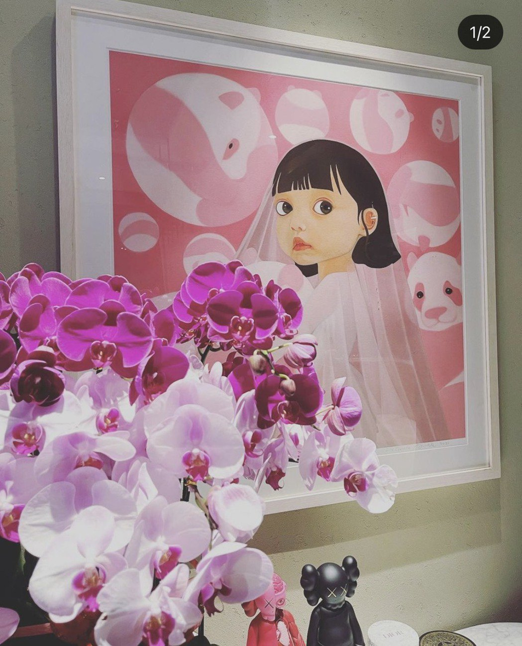 Angelababy出的畫「畫中有話」。圖/摘自IG