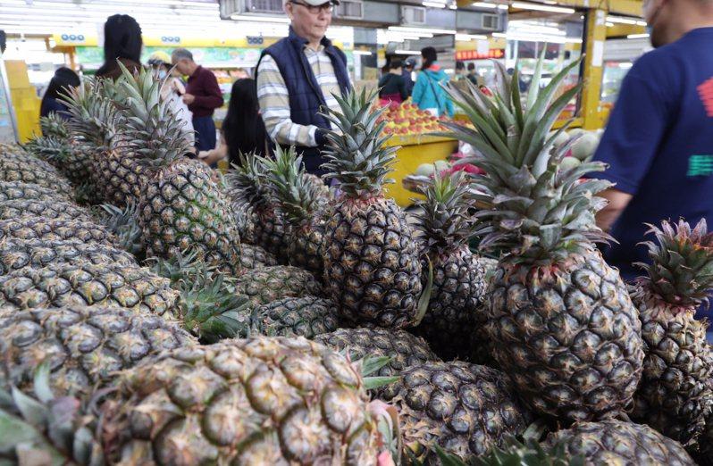 不少美國僑胞響應認購鳳梨,卻發現囿於美國限制,台灣的新鮮鳳梨根本無法進入美國,只能認購後在台灣捐掉,根本出不了海關。  聯合報資料照片 記者黃義書/攝影