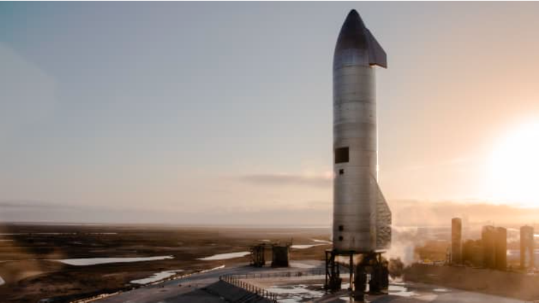 Starship SN-10在第三次試飛成功著陸。網路照片