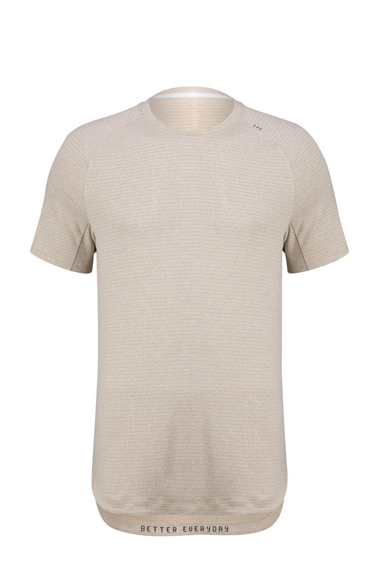 LULULEMON DrySense男裝訓練短袖上衣2,280元。圖/LULUL...