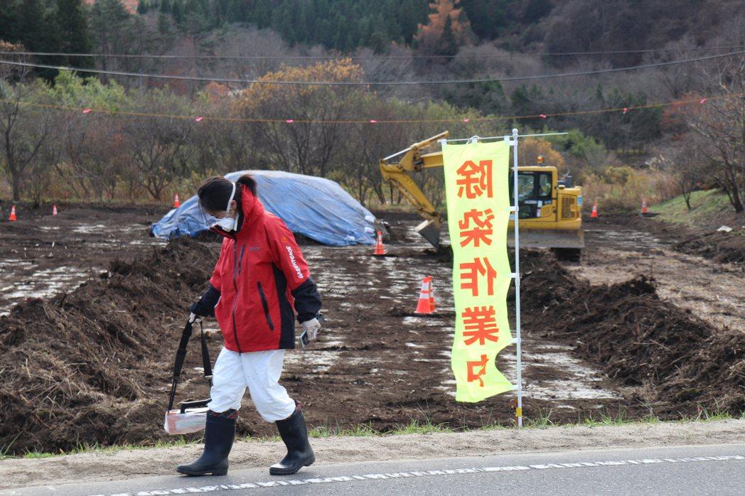 綠色和平表示,日本過去十年除汙工作只完成15%。圖/綠色和平提供