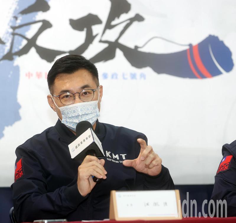 國民黨主席江啟臣接受路透社專訪,指中國大陸是台灣主要威脅,引發國台辦不滿,要江勿陷入「民粹非理性對抗思維」。本報資料照片,記者曾吉松/攝影