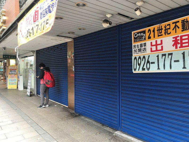 民生社區出現空租潮。記者游智文/攝影