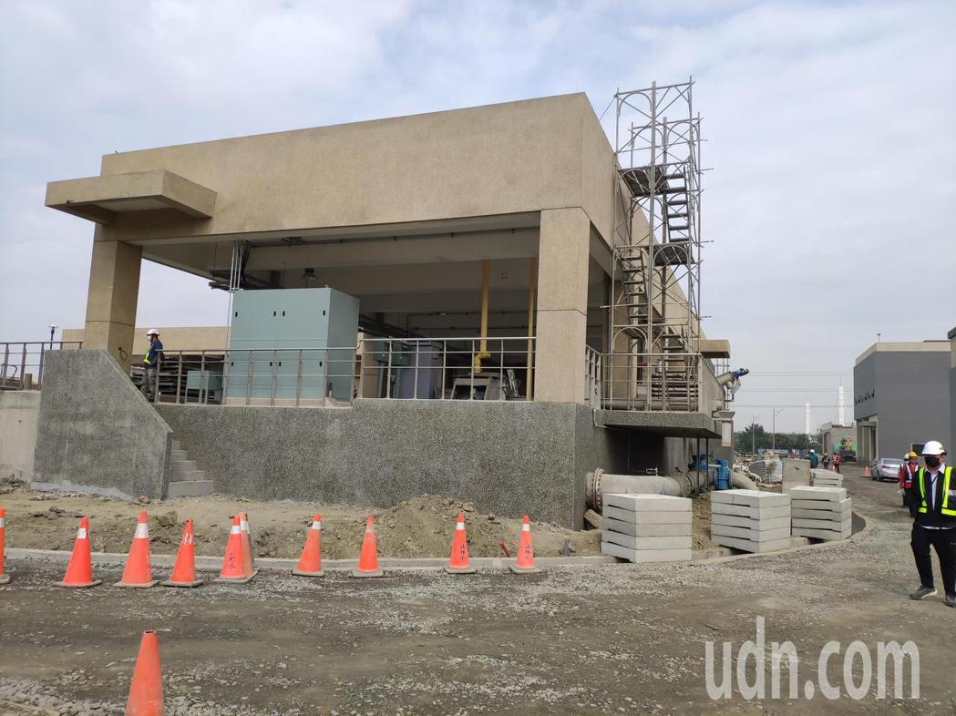 永康再生水廠首期工程8月完工,每日提供南科8千噸再生水。記者謝進盛/攝影