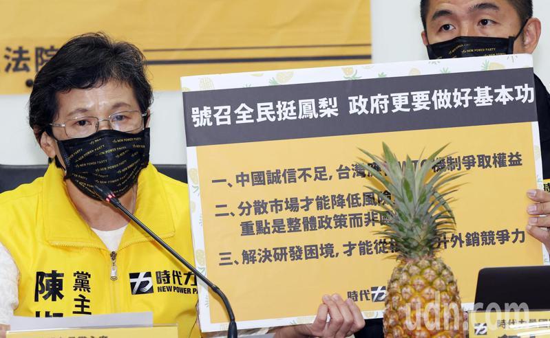 時代力量黨主席陳椒華(左)。聯合報系記者杜建重/攝影