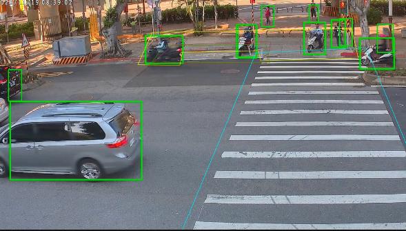 台北市的智慧路口四年計畫,從2019至2022年,目標是設置55處動態號誌系統、38處行人感應性系統,目前已完成19處動態號誌路口,13處感應性路口。圖/北市交通局提供