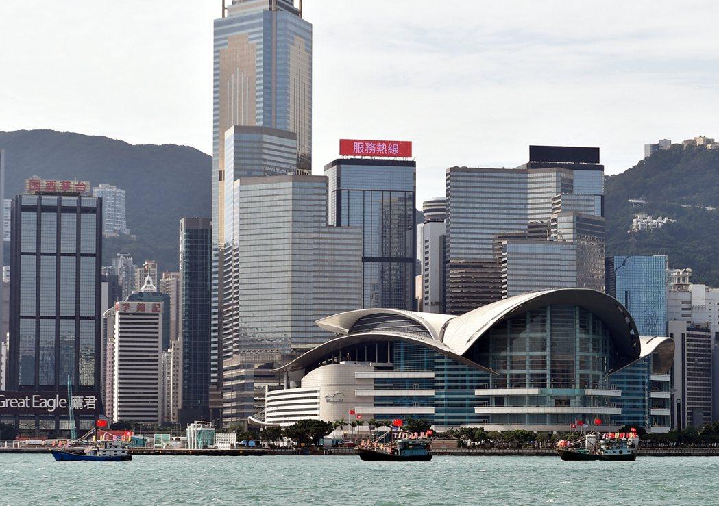 香港維多利亞港。新華社