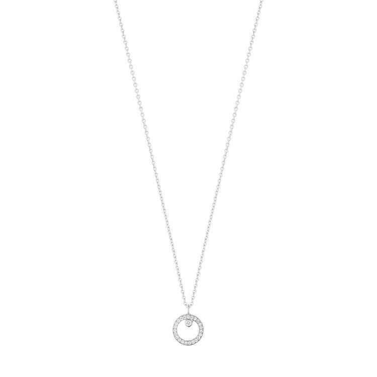 喬治傑生Halo 18k白金鑽石限定款項鍊,39,700元。圖/喬治傑生提供