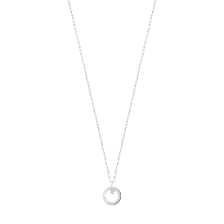 喬治傑生Halo 18k白金鑲鑽限定款項鍊,29,700元。圖/喬治傑生提供
