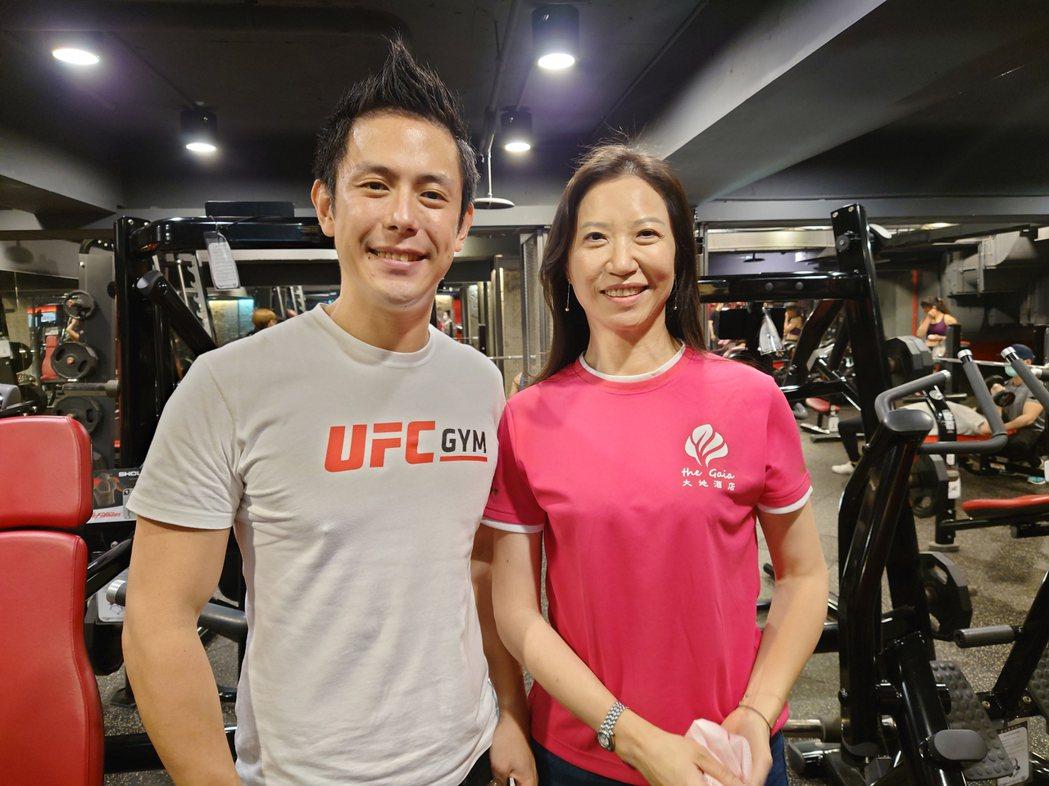 大地酒店跨業結盟格鬥健身品牌UFC GYM TAIWAN 共創三贏。黃淑惠攝