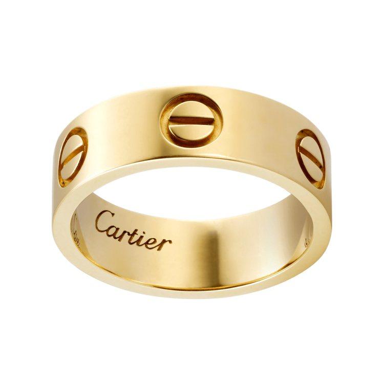卡地亞LOVE黃K金戒指,約51,000元。圖/卡地亞提供