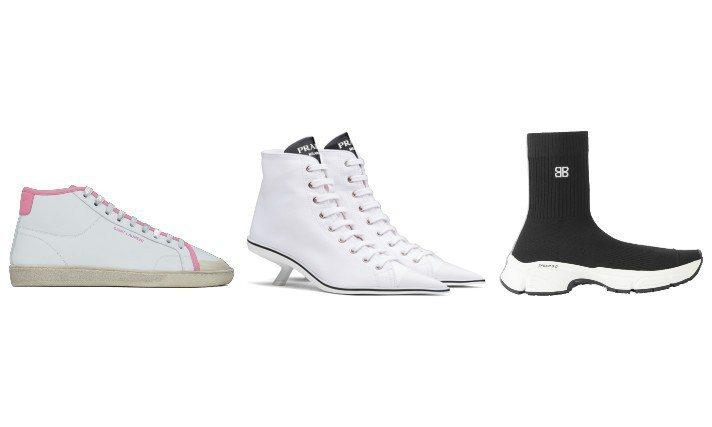 今年春夏眾家時尚品牌推出了許多休閒運動風的鞋款。圖/各品牌提供