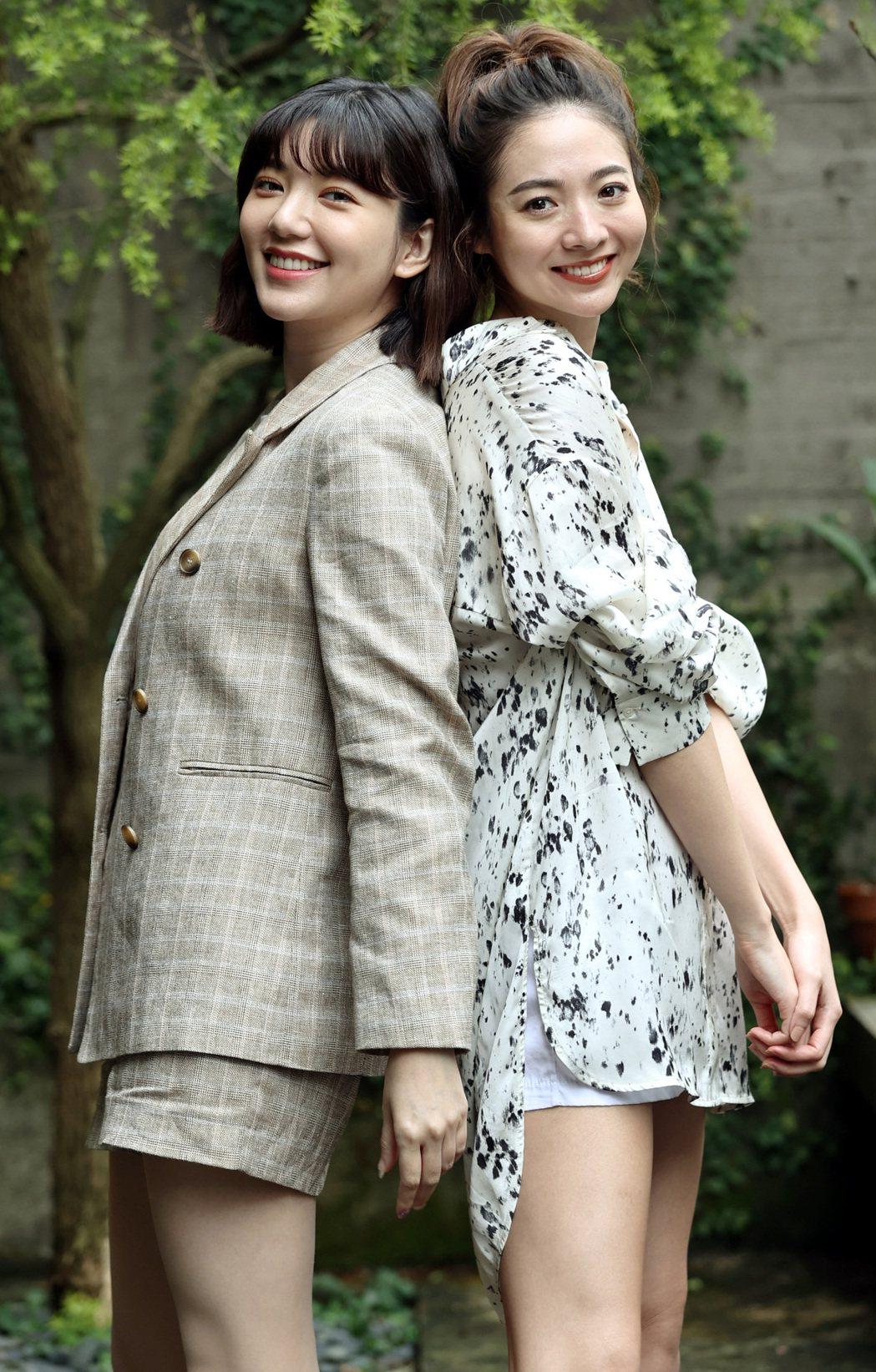郭雪芙(左)、謝沛恩(右)。圖/記者侯永全攝