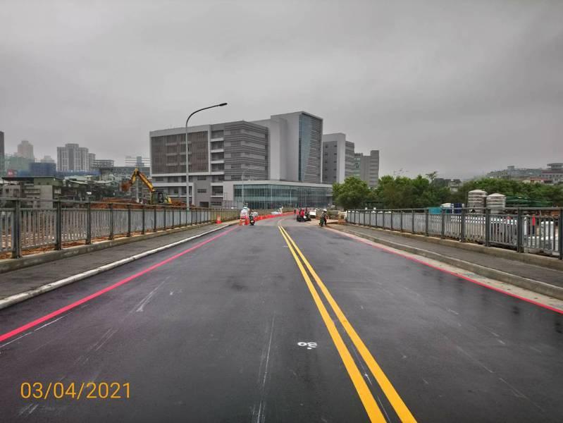 新店寶高園區規劃12米寬道路,連接寶高便道及國道三號。圖/新北市經發局提供
