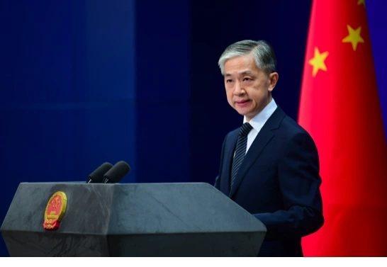 中共外交部發言人汪文斌。圖/摘自環球網