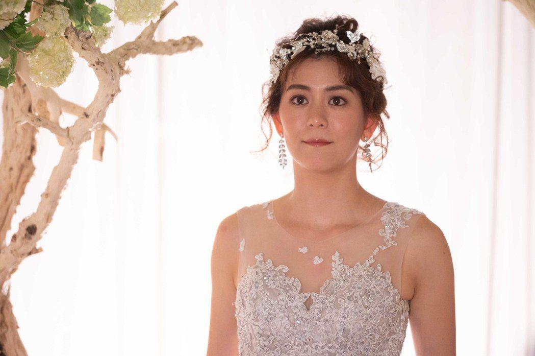 王沛語為戲首披婚紗。圖/TVBS提供