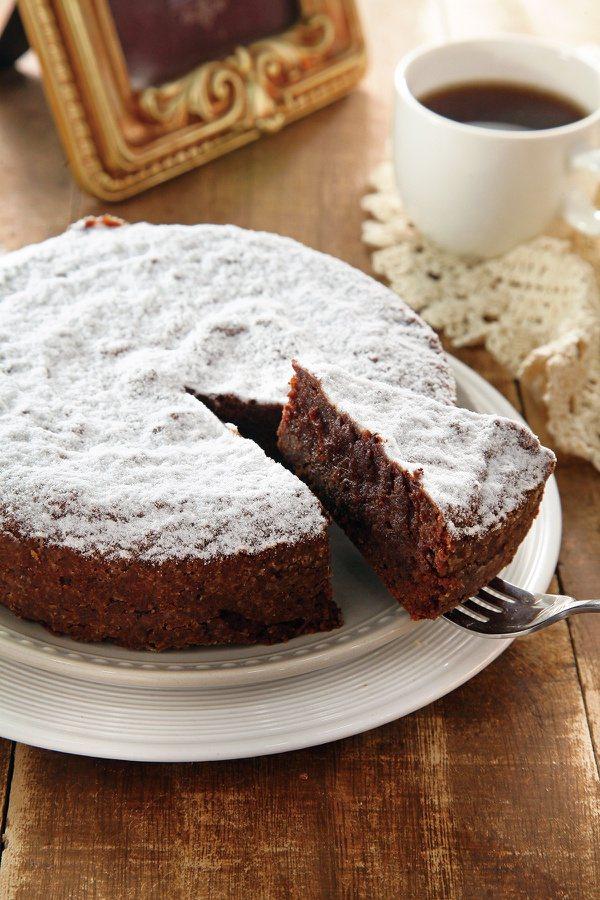 無麵粉巧克力杏仁蛋糕。 圖/上優文化 提供