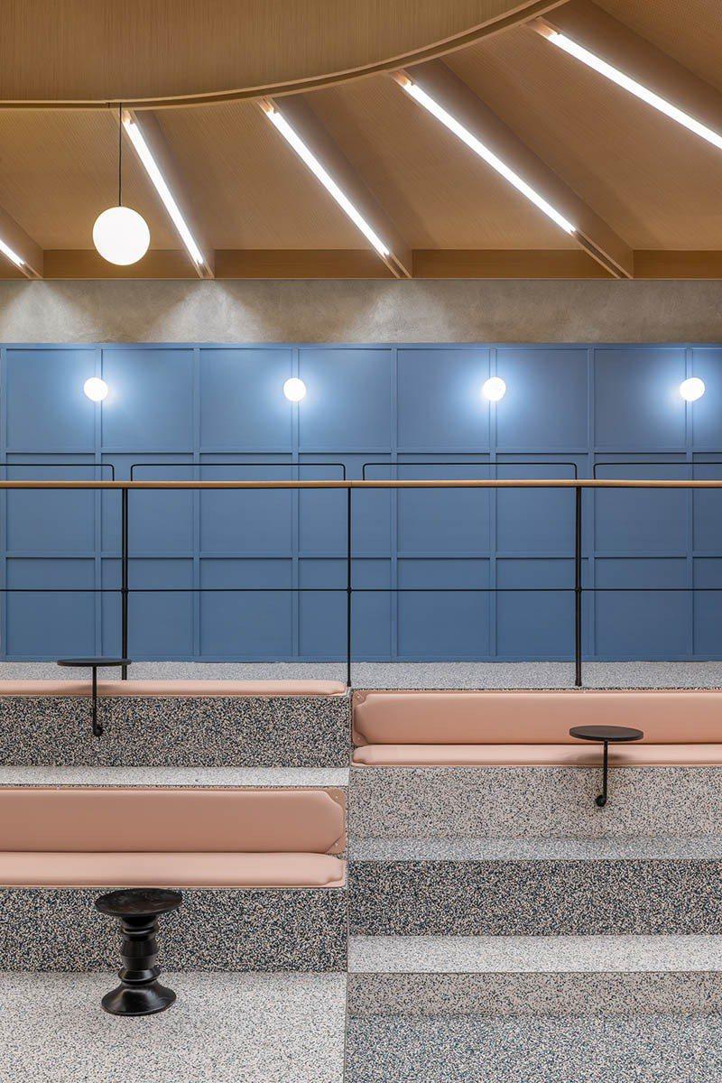 運用顏色,開放空間也能創造視覺上的趣味感。圖/Linehouse