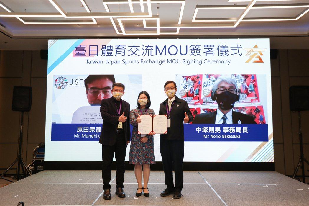 夯運動in Taiwan計畫與日本運動觀光聯盟簽署MOU。